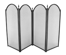 Dynasty PLUS 4 Fold Fireguard - Black